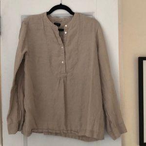 Jcrew linen blouse size 14